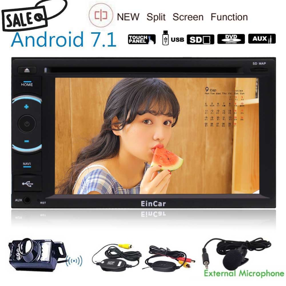 Android 7,1 стерео с Разделение Экран режим Сенсорный экран dvd плеер автомобиля в тире gps навигации автомобильного Радио Аудио Bluetooth /Wi Fi