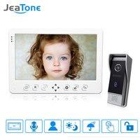 JeaTone 10 новый TFT Цвет монитор телефон видео домофон ИК Ночное видение Камера дверной звонок видео для дома вилла/ квартира комплект