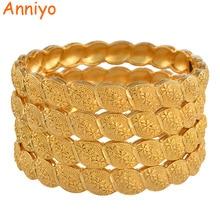 Anniyo מזרח התיכון הערבי דובאי צמיד צמיד לנשים אפריקאי זהב צבע תכשיטי טרנדי מתנות (4 יח\חבילה) #117806