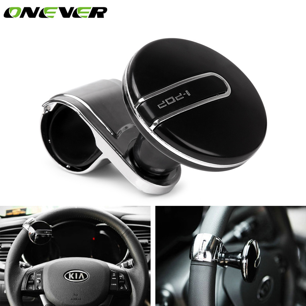 Electric Vehicle Parts Automobiles & Motorcycles Car Steering Wheel Spinner Knob Auxiliary Booster Aid Control Handle Grip Black