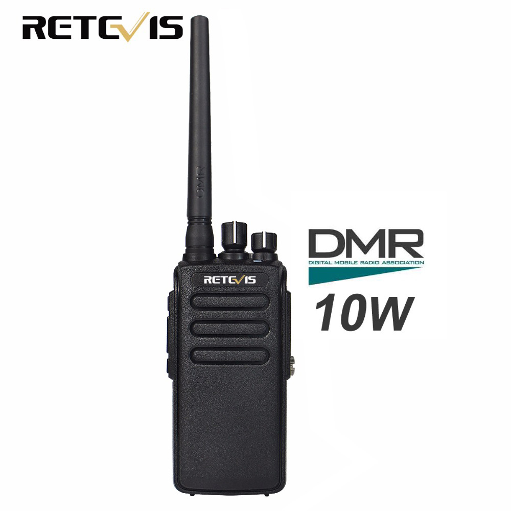 Retevis RT81 10W Walkie Talkie Digital DMR Radio IP67 Vattentät UHF 400-470 MHz VOX Kryptering Digital / Analog Radio A9119A