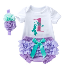 Summer Baby Set Cotton Newborn Clothes Flower Outfits For Girl 3Pcs Babies Bow Infant Clothing
