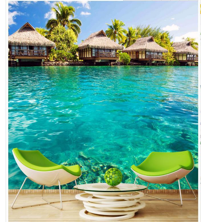 Maldives Beach: Home Decoration Maldives Beach Resort Backdrop Wallpaper