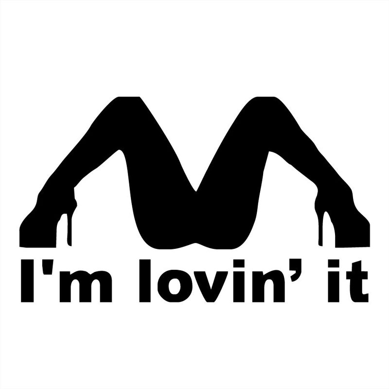 21 8cm12 8cm im lovin it spread legs vinyl car sticker funny hot girl stripper car stylings and decals black sliver c8 0625 in car stickers from