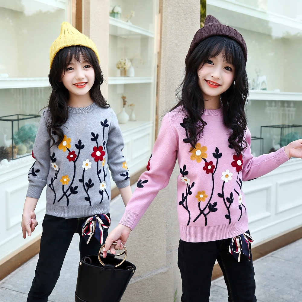 girls sweaters children christmas sweater girl pullover female grey pink flower sweater girls winter clothes long sleeve tops sweaters jumper befree for female cotton sweater long sleeve women clothes apparel turtleneck pullover 1811108429 41 tmallfs