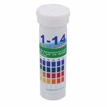 Тест-полоски pH, универсальные полоски pH лакмусовой бумаги для кислотного щелочного теста, pH 4,5-9,0, 0-14,1-14 полный диапазон измерения скидка 10