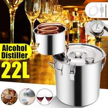22L Distiller 20L Moonshine Alcohol Stainless Copper DIY Home Water Wine Essential Oil Brewing Kit(China)
