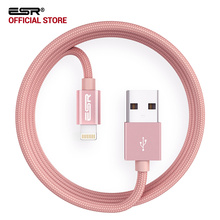 ESR MFI Certified 8 Pin 2M 6.6ft Data Fast Charging lightning to Usb Cable for iPhone X 8 Plus 7 6s 6 SE for iPad Pro Air mini