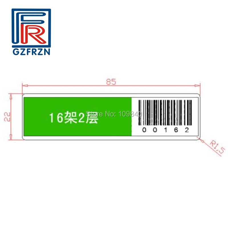 1000pcs ISO15693 RFID Assets management Tracking tag with I code SLIX chip for Logistics library File management 1000pcs long range rfid plastic seal tag alien h3 used for waste bin management and gas jar management