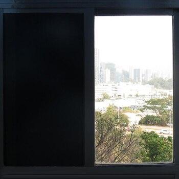 Sunice Opaque Black Decoration window Film Anti-UV proof solar tint Window Privacy Film home office window glass Stickers one  roll 1.52x30m