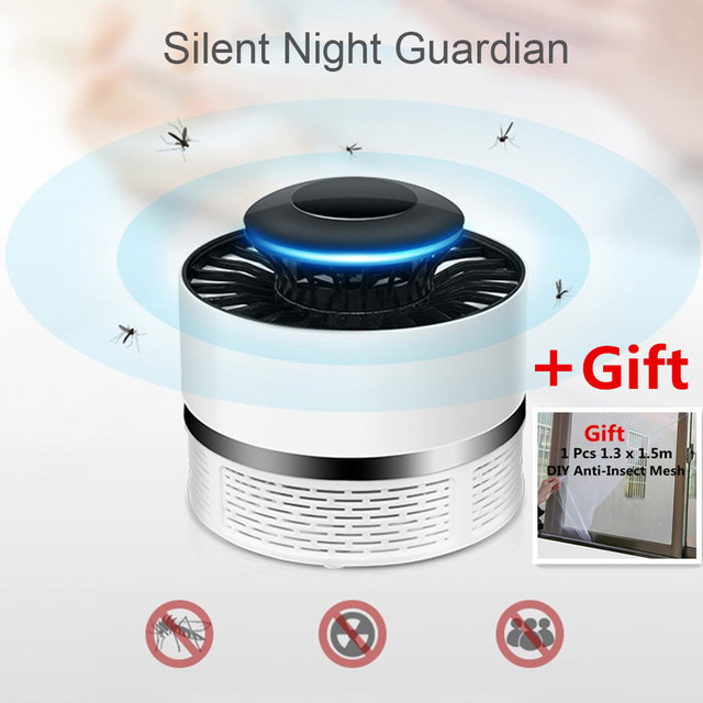 New USB Electronics Mosquito Killer Trap Moth Fly Wasp LED Night Light Lamp Bug Insect Lights Killing Pest Zapper Repeller Net