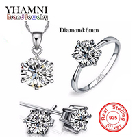 GALAXY Brand 100 Real 925 Sterling Silver Jewelry Sets Luxury CZ Diamond Wedding Engagement Bridal Sets