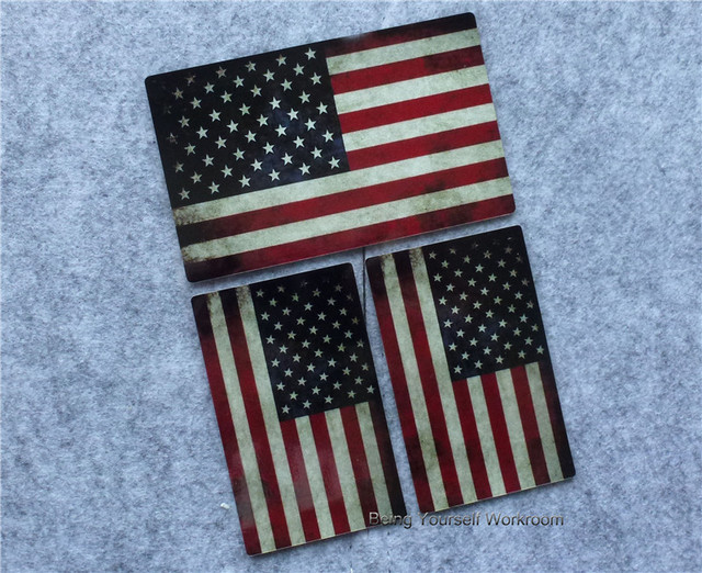 3pcs reflective vinyl usa flag sticker car styling american flag decal usa stickers motocrclye car