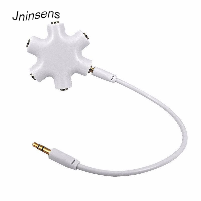 5 way stereo headset headphone earphone extension audio hub splitter adapter 1 male to 2 3. Black Bedroom Furniture Sets. Home Design Ideas