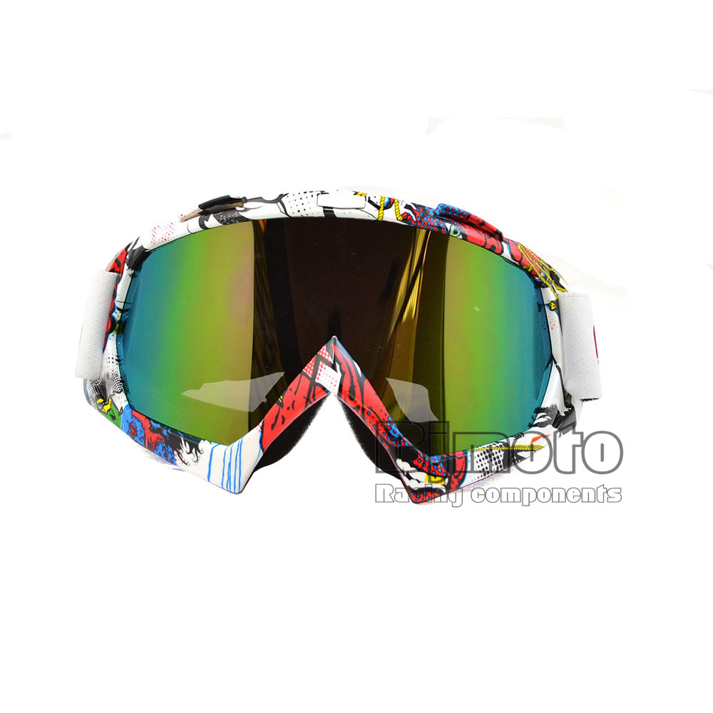 BJMOTO Colorful Vintage UV Protection Off Road Motocross Goggles Glasses For Motorcycle Dirt Bike