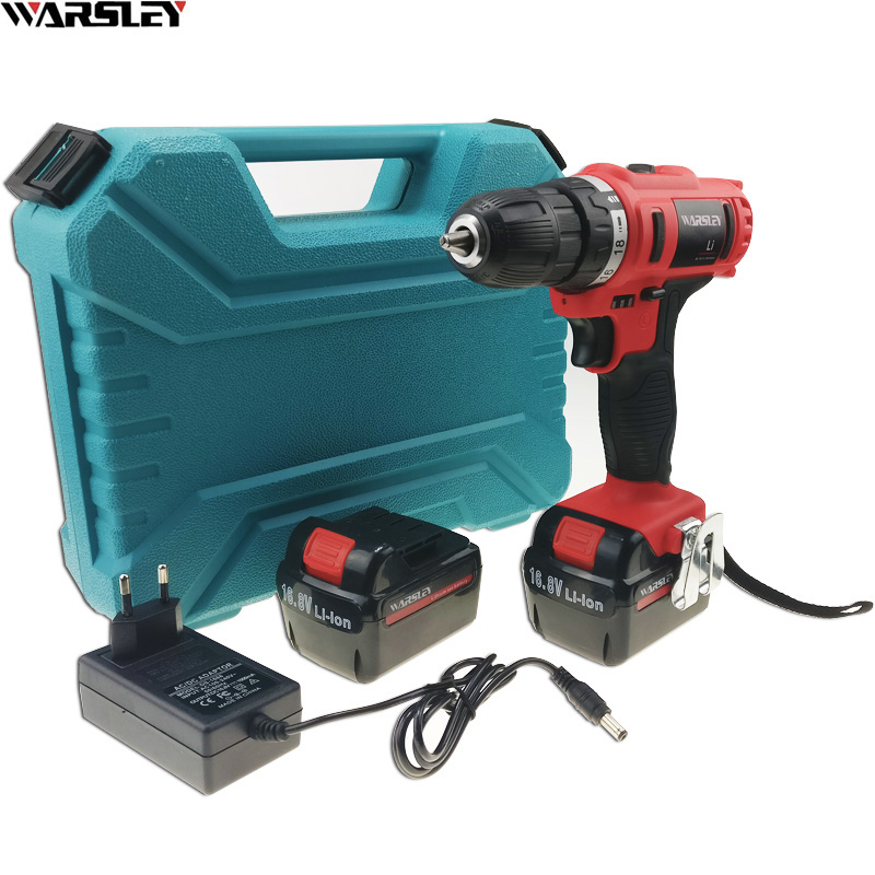 16.8V power tools Cordless Drill Electric electric Drill Screwdriver Electric Tools Mini Battery Drill electric drilling EU PLUG dongcheng 220v 1010w electric impact drill darbeli matkap power drill stirring drilling 360 degree rotation power tools