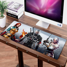 FFFAS 70x30cm Speed Model Big Mouse Pad Mat Washable Gaming Personality Office Mousepad Wild Hunt DIY Geralt Cirilla Yennefer