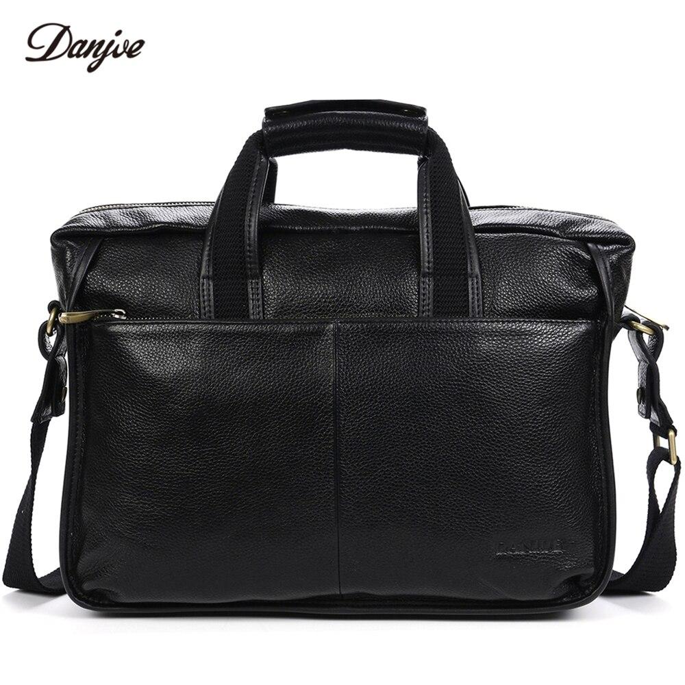 homens maleta danjue genuíno couro Modelo Número : D179-5b