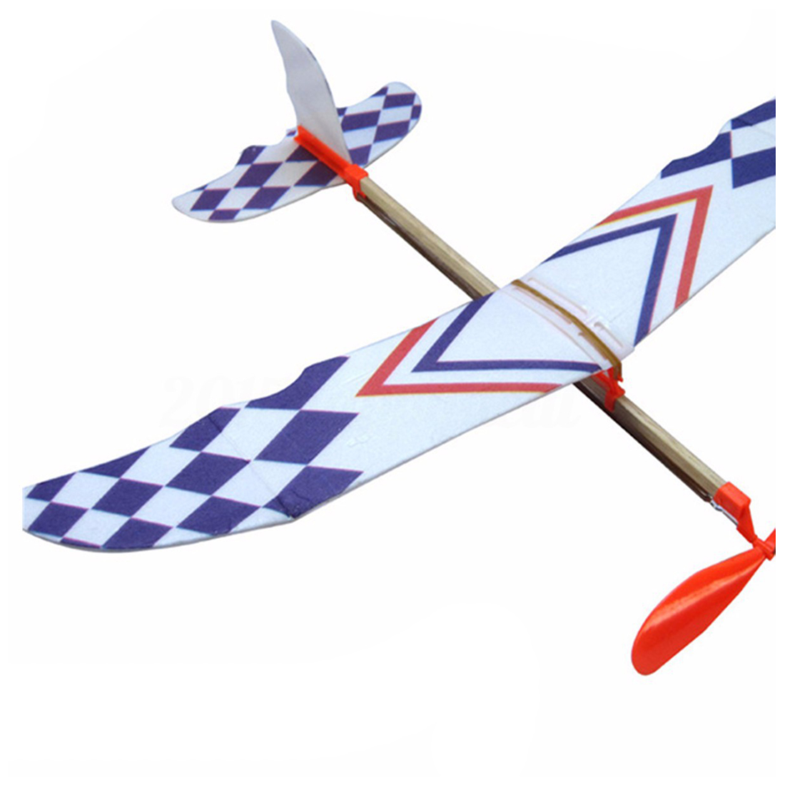 Elastic Rubber Band Powered DIY Foam Plane Model Kit Aircraft Educational Toy