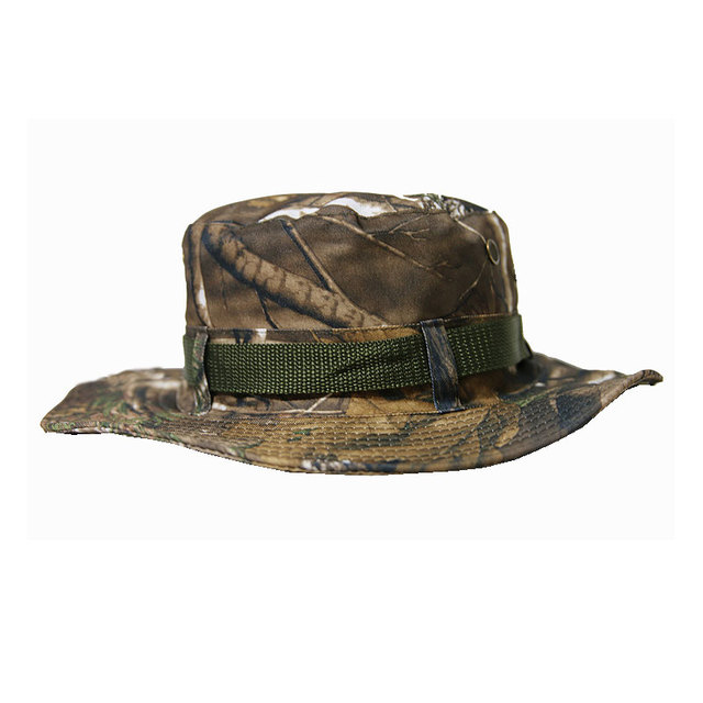 Bionic Camouflage Bonnie Hats Military Airsoft Tactical Hunting Gear Twill Leaves Camo Bucket Hat Fishing Birdwatching