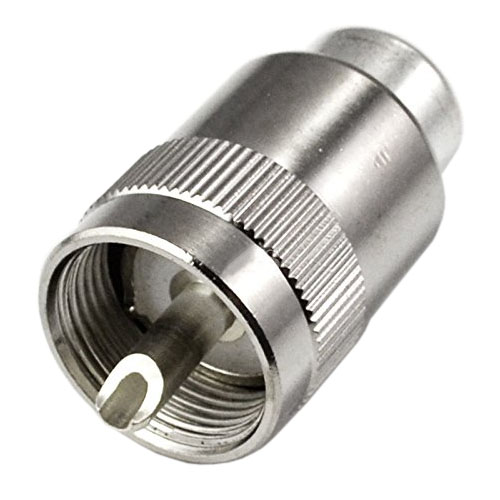 UHF PL259 SO239 male twist-on connector RFC400 RG8 RF Coaxial adapter connector,silver ss 23e08 rg8