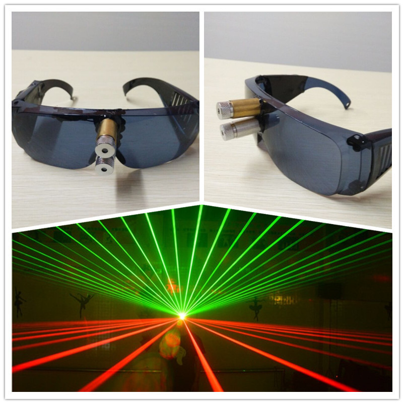Wecool new design red green Laser glasses for stage show DJ laser glove LED glasses dancing Event & Party Supplies