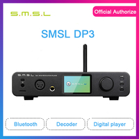 SMSL DP3 HIfi Balanced Bluetooth Amplifier Digital DSD Player ES9018 DSD256 Decoder USB DAC Audio Amp