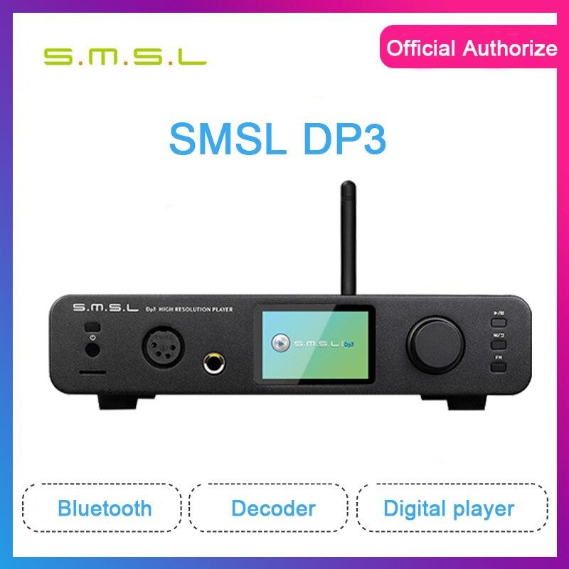 SMSL DP3 digital player bluetooth amplifier usb dac dsd es9018q2c decoder music player balanced dac hi fi amplifier audio amp