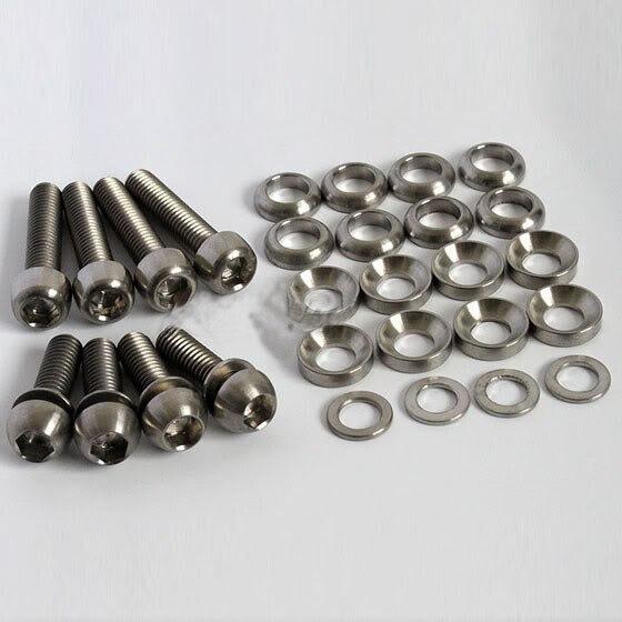 Kit de boulons ROCKBROS titane Ti pour Elixir, Code, vis de frein à disque juteuses, M6 x 20mm, rondelles M6 x 29mm pour support d'étrier