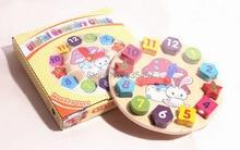 Wooden toys Digital Geometry clock Blocks