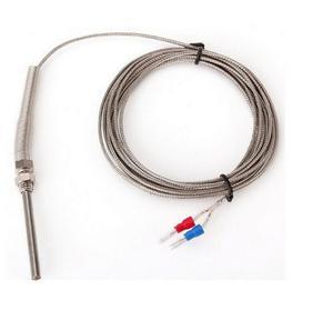 FEORLO Thermocouple haute température 3M câble en acier inoxydable 100mm sonde capteurs K Type sonde en acier inoxydable température