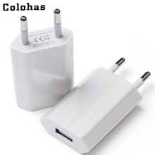 Hot Selling High Quality European EU Plug USB AC Travel Wall Charging Charger Power Adapter For Apple iPhone 6 6S 5 5S 4 4S 3GS