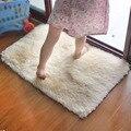 Shaggy moderno cuarto de baño alfombra de baño antideslizante 40 * 60 cm / 15.74 * 23. 62in
