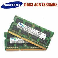 SAMSUNG Ram ordinateur portable PC3-10600S DDR3 1333Mhz 4gb mémoire d'ordinateur portable 4GB pc3 10600S 1333 MHZ Module pour ordinateur portable SODIMM RAM 4g
