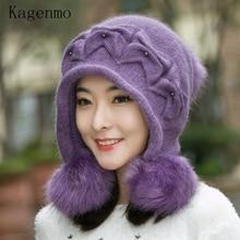Kagenmo шапка женская осенняя и зимняя вязаная шапка Повседневная универсальная Милая вязаная шапка