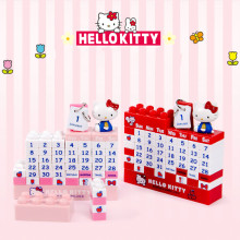 DIY Hellokitty Totoro Jingle Cats Rilakkuma Desktop Building Blocks Cartoon Calendar Children Room Home Decor Accessories декоративная ручка hellokitty