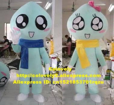 US $179 0 |Clean Cyan Water Drop Drip Raindrop Beads of Dew Dewdrop Mascot  Costume Character Mascotte Adult Black Big Eyes No zz2274 FS-in Mascot from