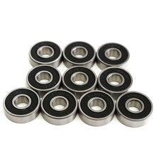 10Pcs 608RS Bearing 8*22*7 mm ABEC-5 Skateboard Scooter 608 2RS Ball Bearing Miniature Skate Roller ball bearings set