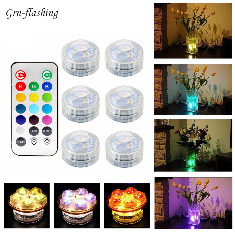 13 colors SMD 3528 RGB led Submersible Underwater IP68 Light with remote Control Lamp for bathroom Swimming pool fountain decor