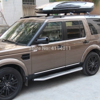 MONTFORD Stainless Steel Side Door Body Molding Car Accessories 4Pcs For Land Rover LR4 Discovery 4 2010 2016