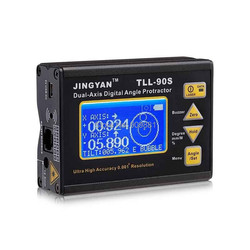 High Precision Angle Meter 0.005 Professional Dual-axis Digital Laser Level Inclinometer Angle Protractor LCD 100-240V 50-60Hz