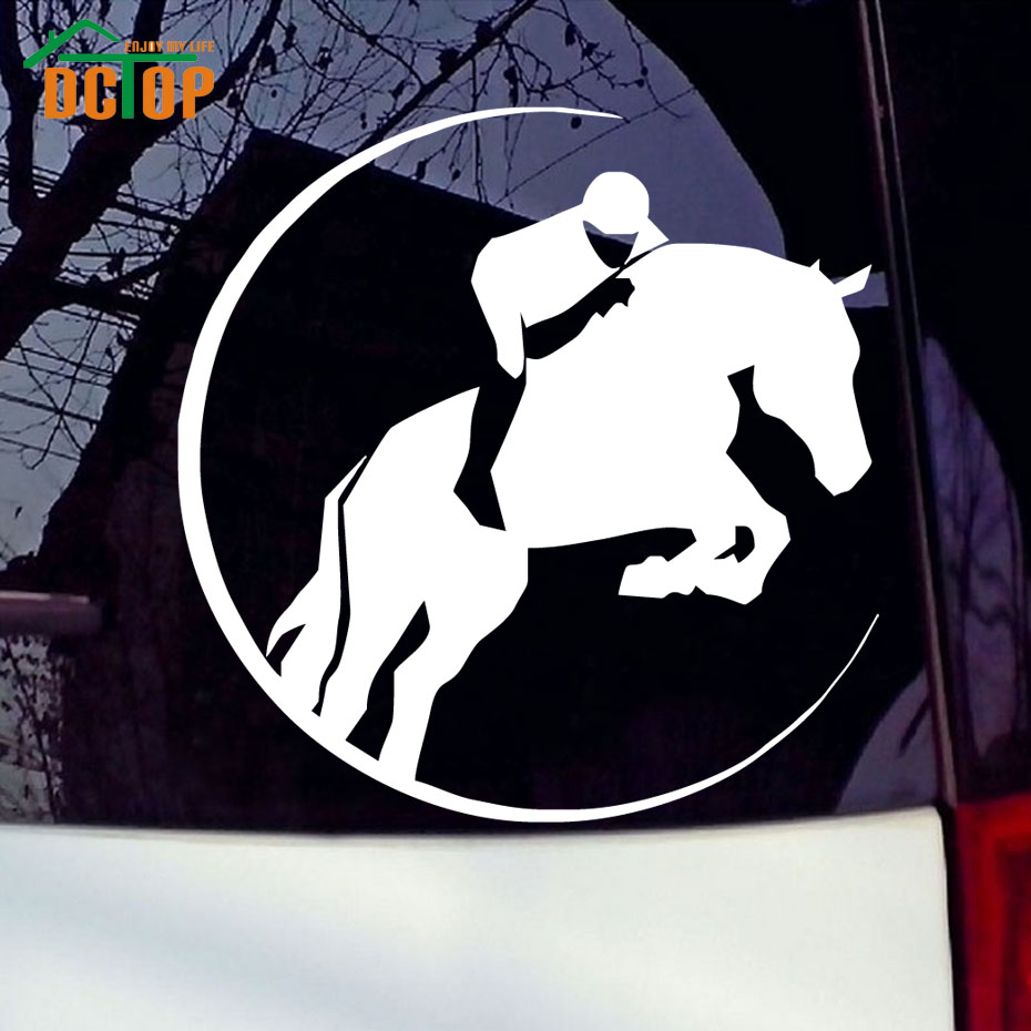 Design a car sticker online - Man Control A Horse Car Sticker Animal Car Styling Decals Auto Car Decals New Design Car
