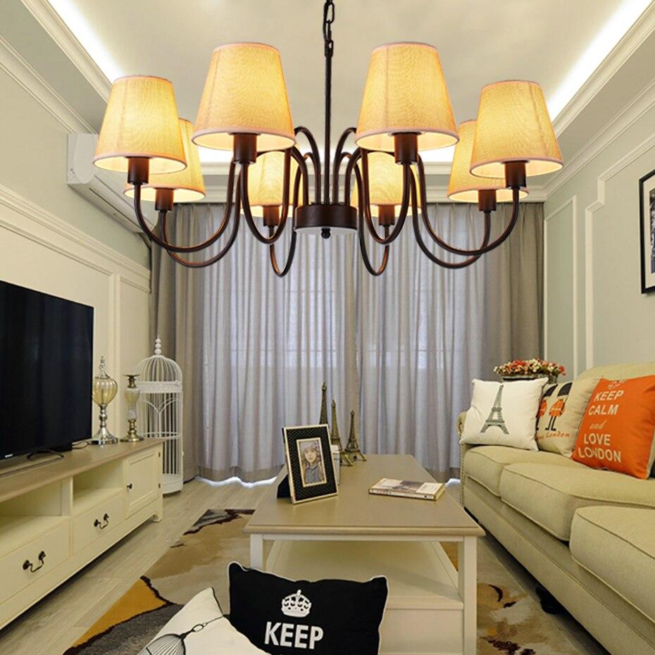 Здесь продается    Modern Chandelier Lighting Led CE Child Chandelier Pendant Living Room Lights  Black  Baking Varnish chain  Adjustable          Свет и освещение