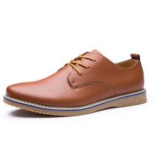 Повседневная Мужская обувь Демисезонный модные кожаные Туфли-оксфорды Для мужчин S для отдыха на плоской подошве брендовые весенние Вечерние Повседневные платья Туфли без каблуков для мужчин