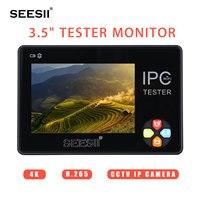 SEESII 3,5 Сенсорный экран с разрешением 4 K 480x320 Wi Fi IP CCTV камера Камера Тесты er монитор аналоговая CVBS ONVIF H.265 Тесты PTZ BNC NTSC Управление аудио