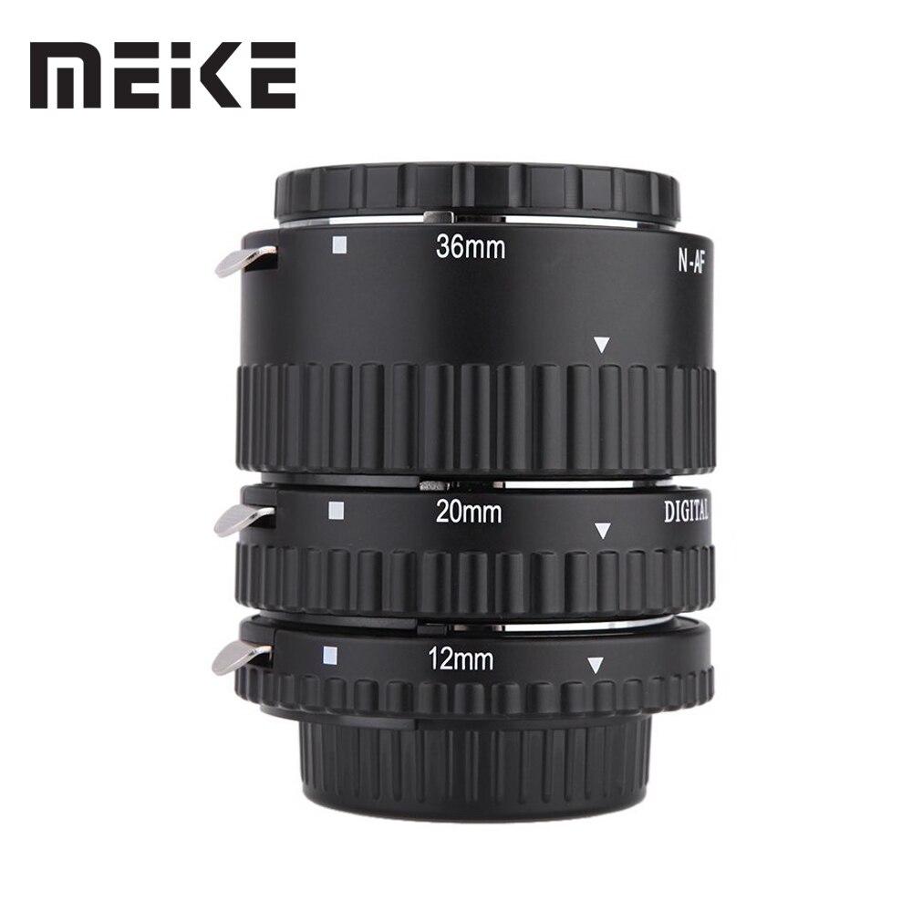 Meike Auto Focus Macro Extension Tube Set Anello N-AF1-B per Nikon D5300 D7100 D7000 D5100 D3100 D800 D600 D300s D300 D90 D80