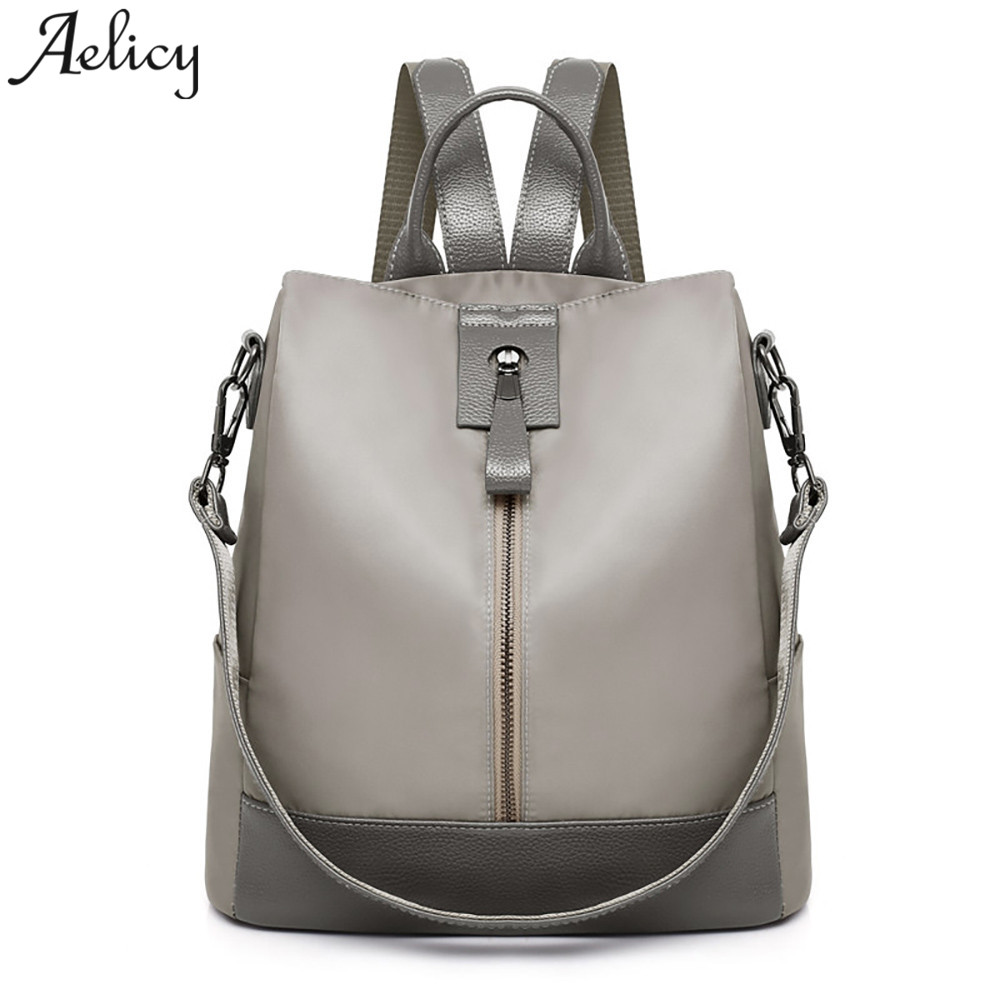 Aelicy Women Multifunction Backpack Leather Shoulder Bag Large Capacity Backbag Female Zipper School Bag Girl Travel Bag MochilaAelicy Women Multifunction Backpack Leather Shoulder Bag Large Capacity Backbag Female Zipper School Bag Girl Travel Bag Mochila