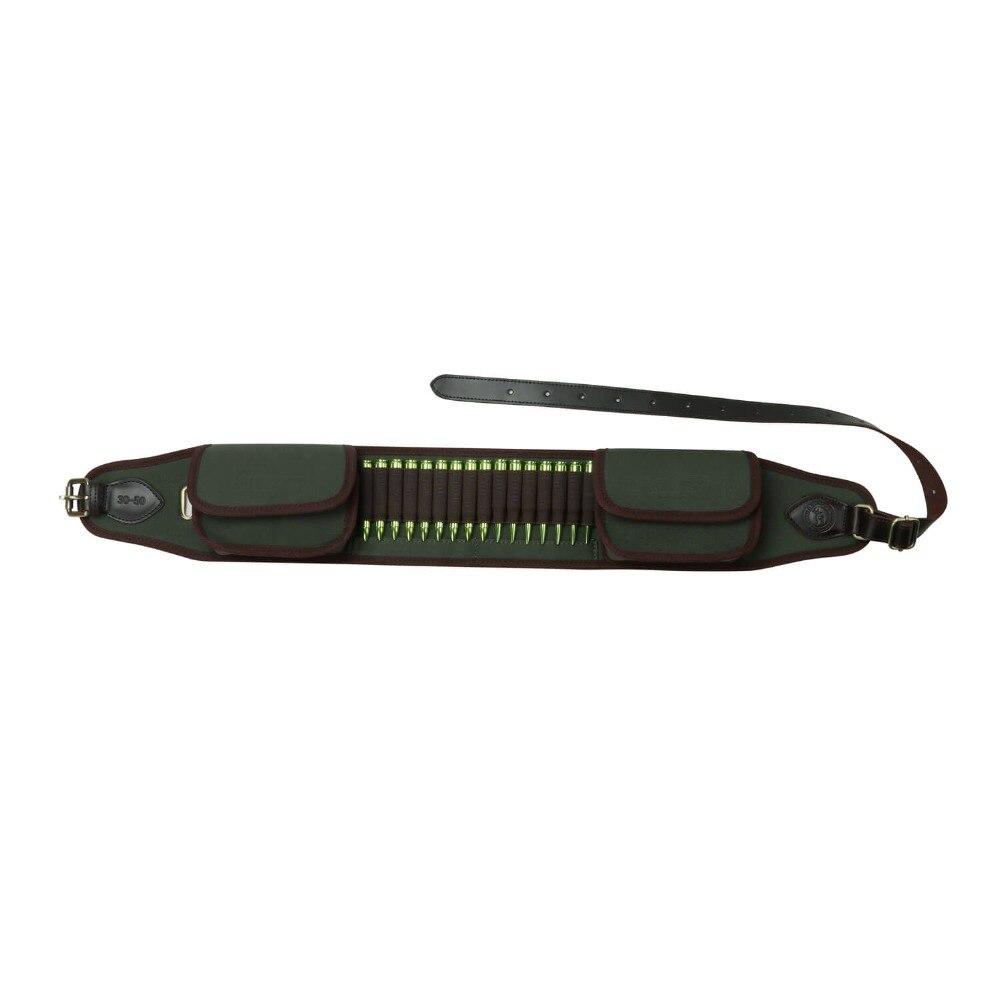 Tourbon Tactical Hunting Rifle Gun Cartridges Belt Fit 410GA Ammo Shells Holder 16 Rounds Bandoleer Canvas