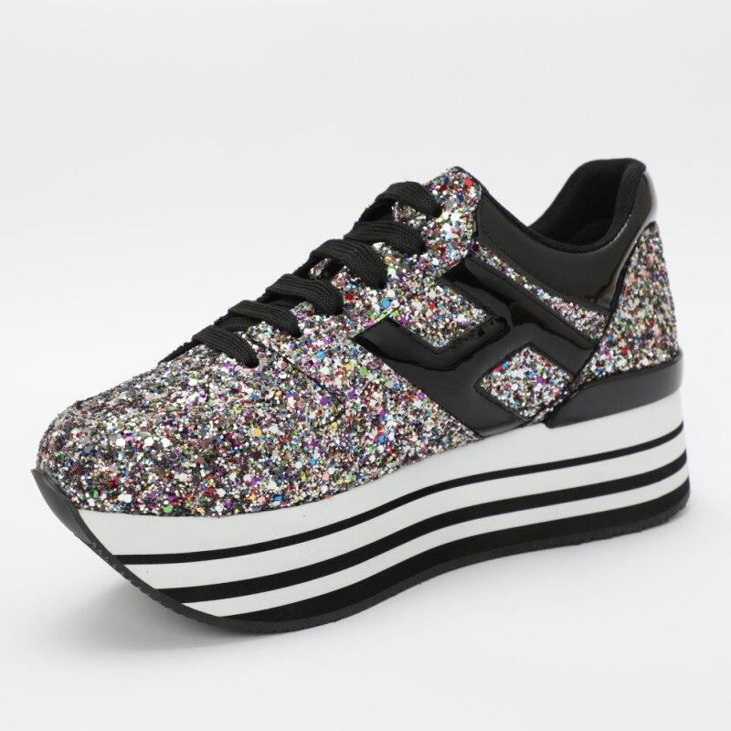 Pic Otoño Zapatos Deporte As Baja Plana Plataforma Casuales Zapatillas Marea as Pic Superstar Hot Bling Mujer Encaje De Spring Flats Cozy RwCxqEx5