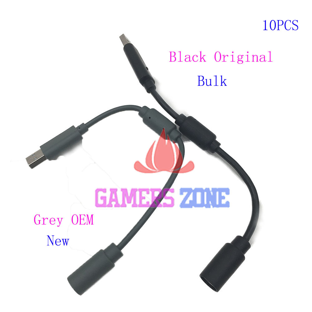 10PCS Black Grey For XBOX 360 USB Breakaway Cable Lead Cord Adapter For XBOX360 Wired Controller